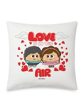 Romantic Couple Printed Cushion Cover - By