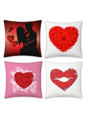 Hearts Printed Cushion Covers Set - By