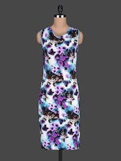 Floral Printed Sleeves Bodycon Dress - Bella Rosa