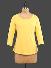Yellow Plain Cotton Top - CULT FICTION