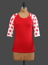 Red Printed Cotton Top - CULT FICTION