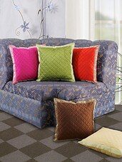 Set Of 5 Ethnic Multi Cushion Cover - By