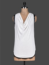 Solid White Cowl Neck Top - Ozel Studio