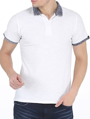 white cotton tshirt