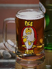 King card print beer mug -  online shopping for Bar Glasses