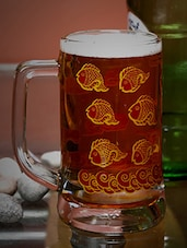 fish print beer mug -  online shopping for Bar Glasses