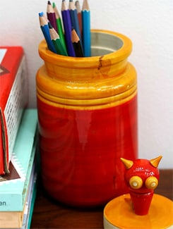 Cat-on-a-Pickle Jar Storage Boxes - VARNAM