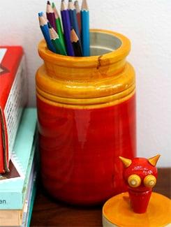 Cat-on-a-Pickle Jar Storage Boxes - VARNAM