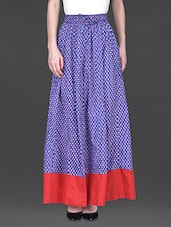 Printed Long Length Skirt - KRISHTI