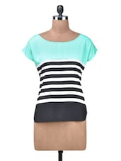 Black Poly Crepe Mix-Match Top - By