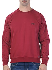 red printed cotton sweatshirt -  online shopping for Sweatshirts