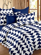 Story @ Home 120 TC 100% Cotton Navy 1 Double Bedsheet With 2 Pillow Cover -  online shopping for bed sheet sets