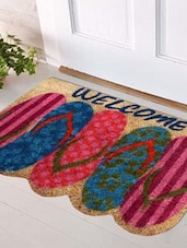 Multi Colored Coir Doormat - By
