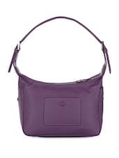 Purple Faux Leather Hobo Bag - POCKIT