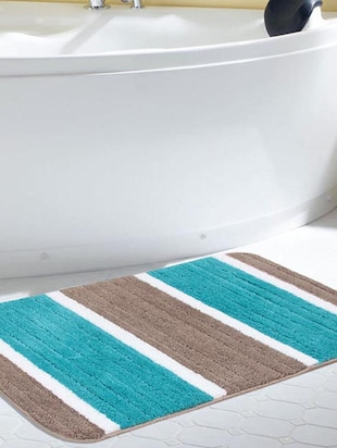 multi colored polyester bath mat