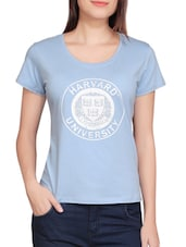 light blue cotton tee -  online shopping for Tees