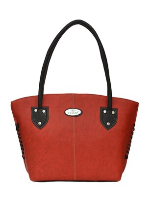 red leatherette (pu handbag