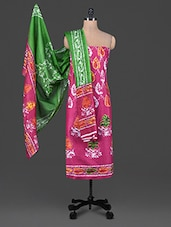 Batik Print Unstitch Salwar Suit - DFOLKS