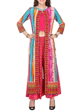 Multicolor Rayon Long  Kurta - By