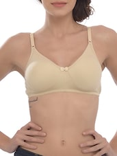 beige cotton regular bra -  online shopping for bra