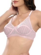 pink cotton regular bra -  online shopping for bra