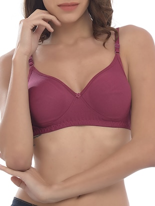 purple cotton bra -  online shopping for bra
