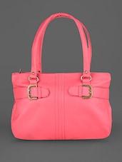 Pink Faux Leather Handbag - Coash