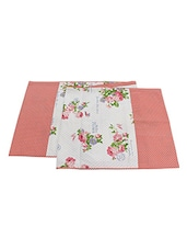 Sanaa Floral With Dot Printed Table Runner - By
