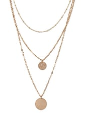 Gold Embellished Statement Chain Necklace - By
