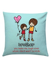 Blue Cotton There For You Cushion - Gifts By Meeta