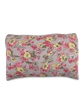 Multicolored Canvas Printed Cushion Cover - By
