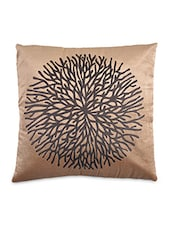 Brown Velvet Printed Cushion Cover - By