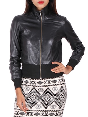 black leather leatherleatherette jacket