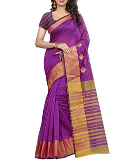 pink cotton saree  available at Limeroad for Rs.599