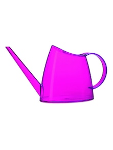 Bright pink plastic watering can