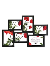 Black Plastic Photo Frame With 6 Slots - Innova