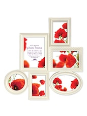 White Plastic Photo Frame With 6 Slots - Innova