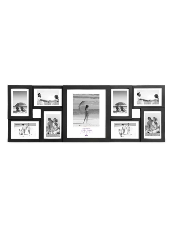 Black Plastic Photo Frame With 9 Slots - Innova By HC