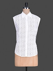 Sleeveless Lace Shirt - By