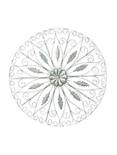Silver Round Floral Iron Wall Decoration - By
