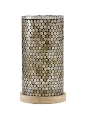 Tarnished Gold Glass And Wood Floor Lamp - Consilium World
