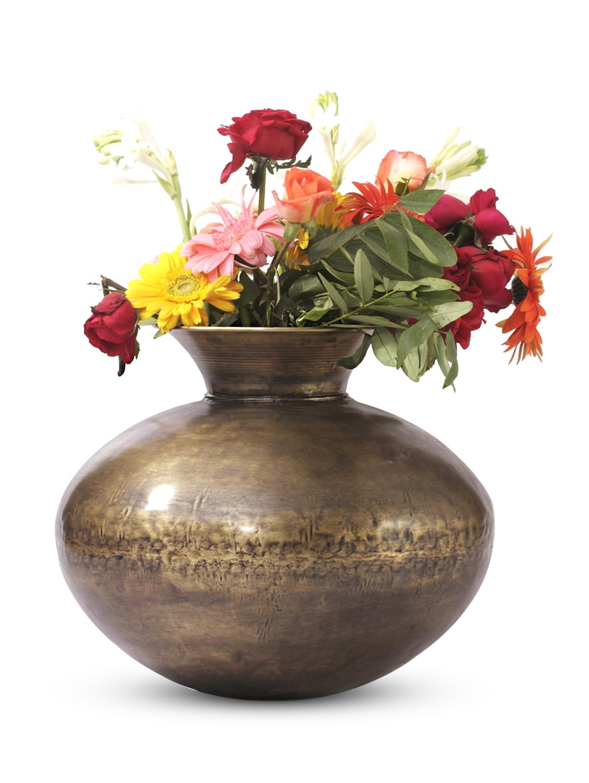 Gold Iron And  Brass Planter - Papallona Designs - 1172575