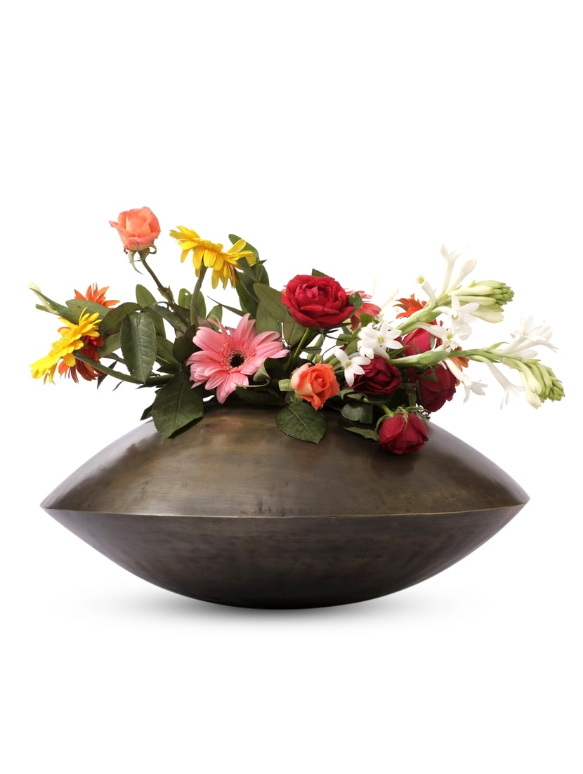 Gold Iron And  Brass Planter - Papallona Designs - 1172579