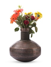 Gold Iron And  Copper Planter - Papallona Designs