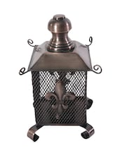 Fleur De Lis Pattern Detailed Metal Lantern - Buttercup Decor