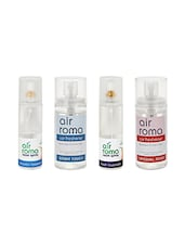 AirRoma Combo Of 4, Air Freshener Spray 200ml, Car Freshener 60ml, Air Freshener Spray 200ml & Car Freshener 60ml - By