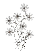 Antique Silver Iron Flower Wall Decoration - By