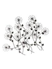 Antique Silver Iron Flower Wall Decoration - Grandiosa