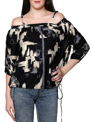 black blouson top -  online shopping for Tops