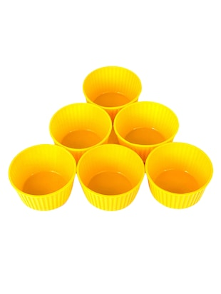 yellow polypropylene muffin cups set of 6 -  online shopping for Moulds